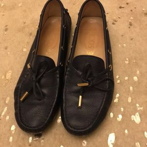 Tod's leather shoes loafers Gommino driving style